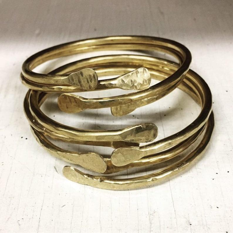 Brass Bangles / Brass Bracelets / Bangle Bracelets / Stacked image 0