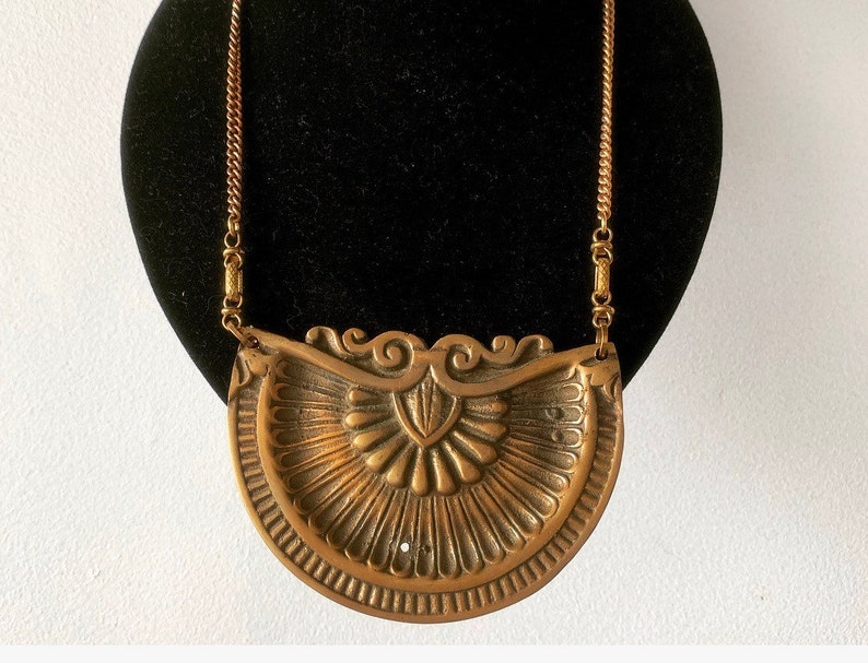 Statement Necklace  / Art Deco / Hardware Jewelry Rustic image 0