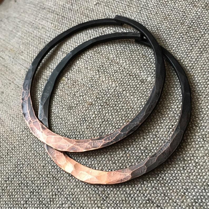 8g Hoop Earrings / Copper Hoops /Gauged Hoops / Gauged image 0