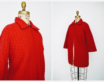 52bd48a88e Vintage Red Sweater Duster