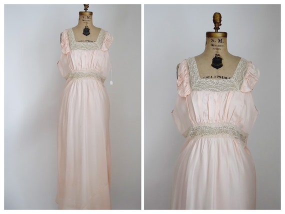 40s xl rayon nightgown