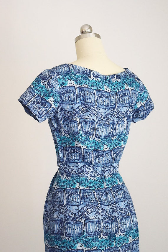 "1950s batik tiki dress ""AnR Jr"" - image 4"