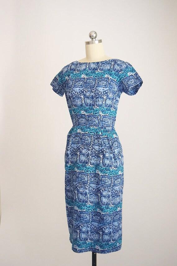 "1950s batik tiki dress ""AnR Jr"" - image 3"