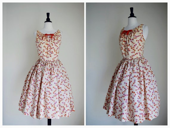 Vintage 1950s Dress - 50s Sun Dress