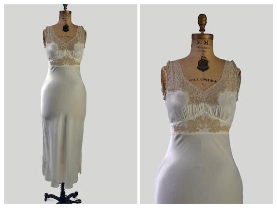 40s rayon nightgown | Terri - Lu