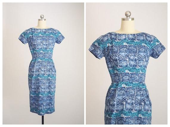 """1950s batik tiki dress """"AnR Jr"""""""