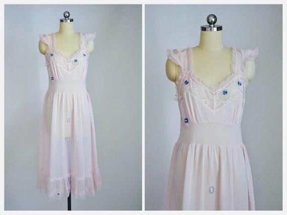 vintage 60s stern-maid slip dress | nightgown