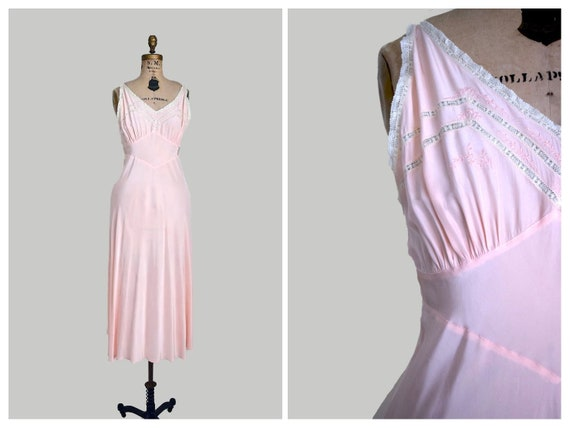 40s rayon nightgown