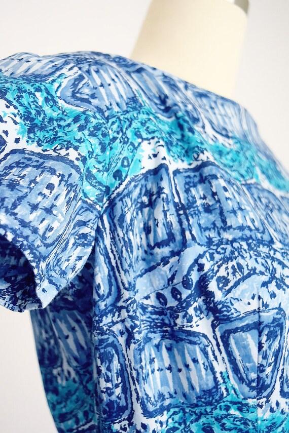 "1950s batik tiki dress ""AnR Jr"" - image 8"