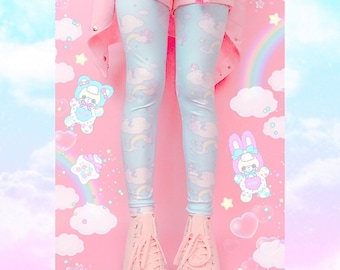 9b540decd66 Sweetie Dreams and Trixie Dreamy Clouds Yume Kawaii Leggings