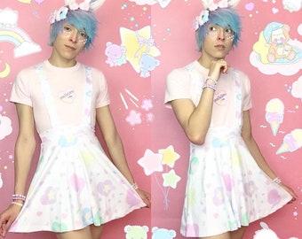 67b4f9a670107 Heart Confetti Party Yume Kawaii Suspender Skirt