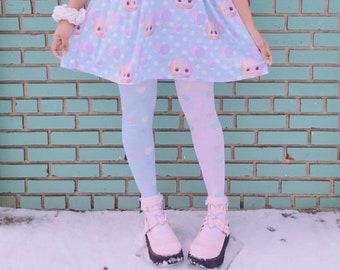 28a83041b2b9b Heart Rainbow Leggings, Yume Kawaii Leggings, Fairy kei leggings