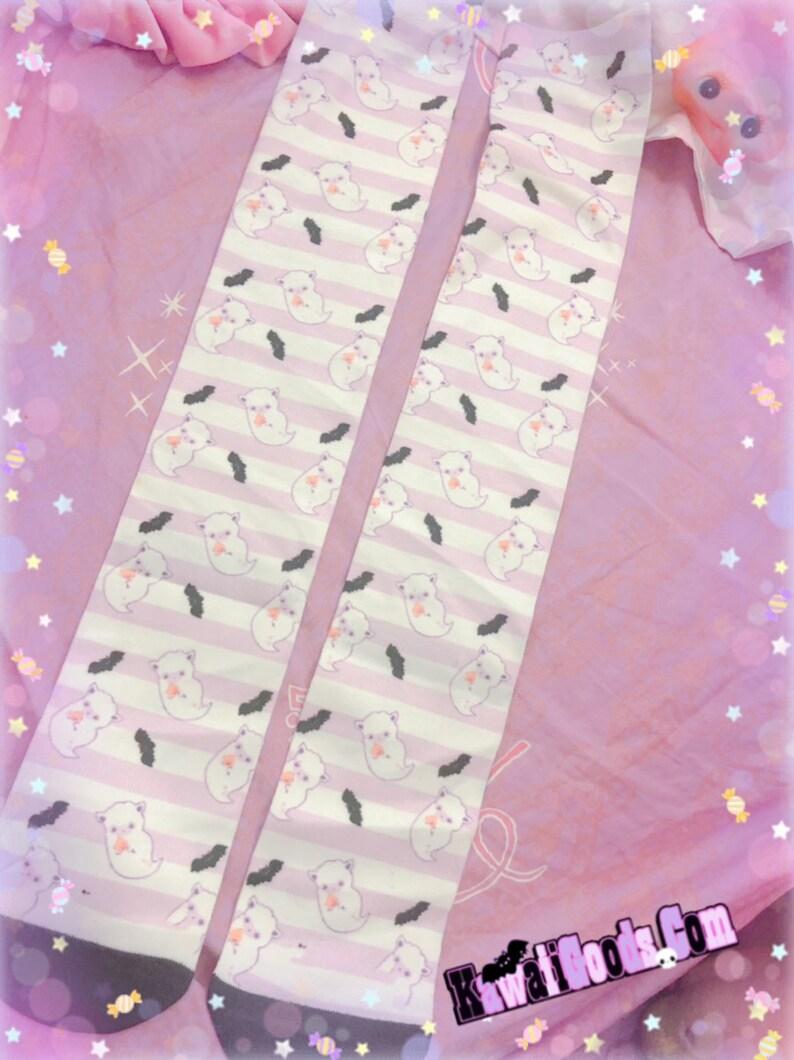 Pastel Cute Kawaii Ghost Pastel socks Pastel Goth Socks Alpaca Ghost Socks Creepy Cute Socks Ghost Socks Kawaii Socks