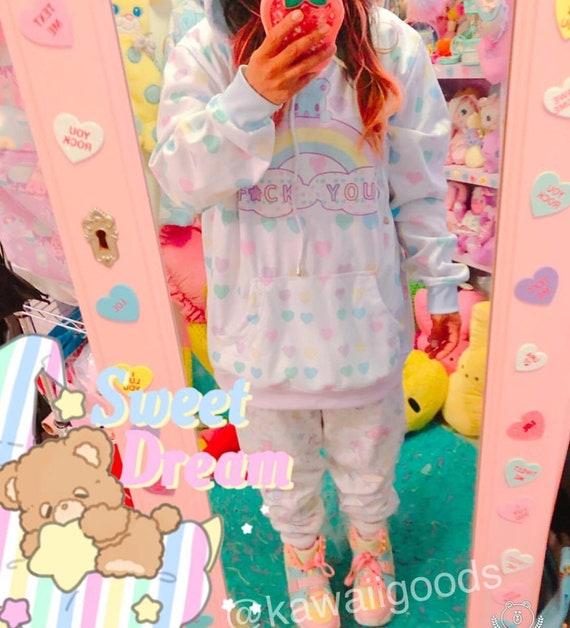 FU trixie rainbow hoodie sweater XL SAMPLE fTHU0c