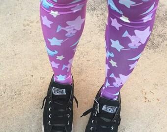 Starry Dino Melty Tights, Fairy Kei Tights, Fairykei Tights, cute tights, kawaii tights