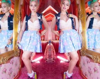 Trixie the Space Alien Skirt, Pastel Skirt, Fairy Kei Skirt
