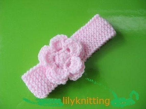 Pattern In Pdf Crochetedknitted Flower Baby Headband Etsy