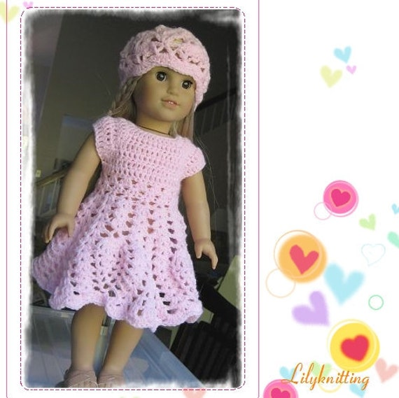Doll Dress American Girl Doll Dress Pattern Crocheted Doll Etsy