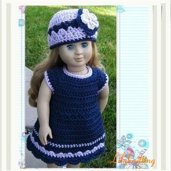 American Girl Doll Seashell Summer Dress | Crochet doll clothes ... | 570x570
