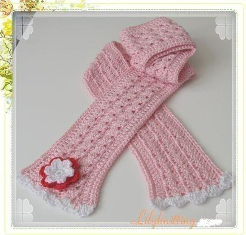 PATTERN in PDF  crocheted scarf Scarf 6 image 0