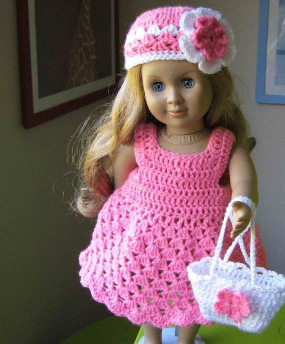 Doll Dress Parttern Crocheted Doll Dress For American Girl Etsy