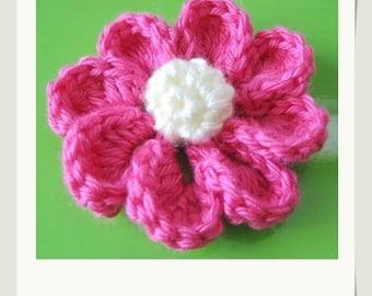 PATTERN in PDF crocheted flower applique, Motify -- Flower 21