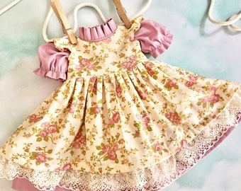 """Doll Dress and Pinafore for 17""""-20"""" doll"""