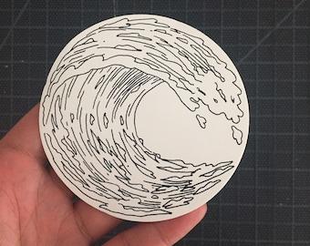Circular Wave Sticker