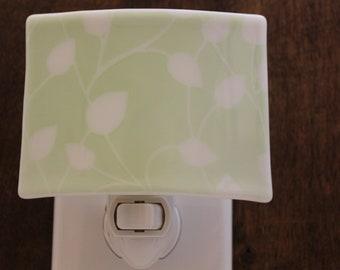 Vine Night Light, Leaf Night Light, Bathroom Night Light, Baby's Room, Green Leaf, Soft Green Night Light, Gift for Gardener