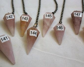 Rose Quartz Crystal, Polished Stone, Crystal Fan Pulls, Rose Quartz, Fan Pull, Quartz Fan Pull, Stone Fan Pull, Rock Fan, 141-148
