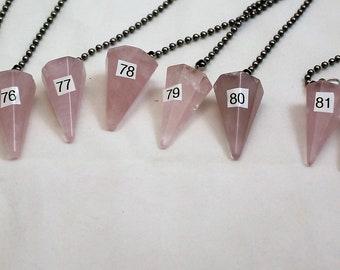 Rose Quartz Crystal, Polished Stone, Crystal Fan Pulls, Rose Quartz, Fan Pull, Quartz Fan Pull, Stone Fan Pull, Rock Fan, 73-84