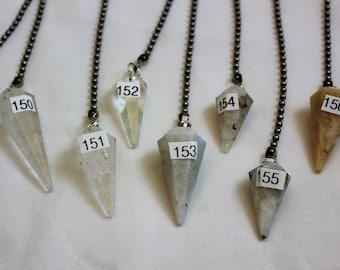 Clear Quartz Crystal, Polished Stone, Crystal Fan Pulls, Quartz, Smokey Quartz Fan Pull, Stone Fan Pull, Rock Fan, 149-157