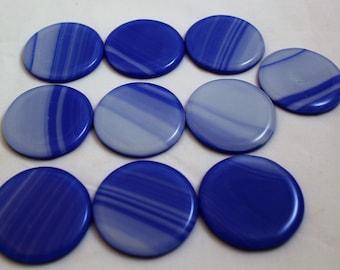Medium Blue Glass Knob, Fused Glass Drawer Pulls, Dresser Pulls, Blue Knobs, Glass Knobs, Cabinet Drawer Pulls, Closet Door Pull,