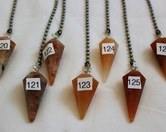 Orange Quartz Crystal, Polished Stone, Crystal Fan Pulls, Quartz, Quartz Fan Pull, Stone Fan Pull, Rock Fan, 120-126