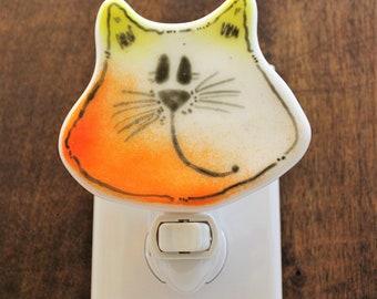 Cute Cat Night Light, Cat Nightlight, Feline Night Light, Cat Lovers Gift, Gift for Teacher, Kids Room,
