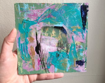 Abstract Acrylic Painting - Original Art - 6x6 painting - Abstract Art