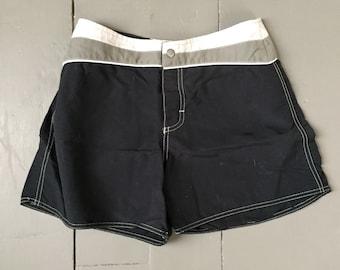 84d147ac23 Vintage Mid 1990s Black Surfer Girl Roxy Boardshorts Board Shorts Size 7