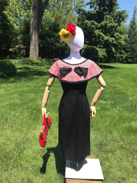 1950s Gingham Dress