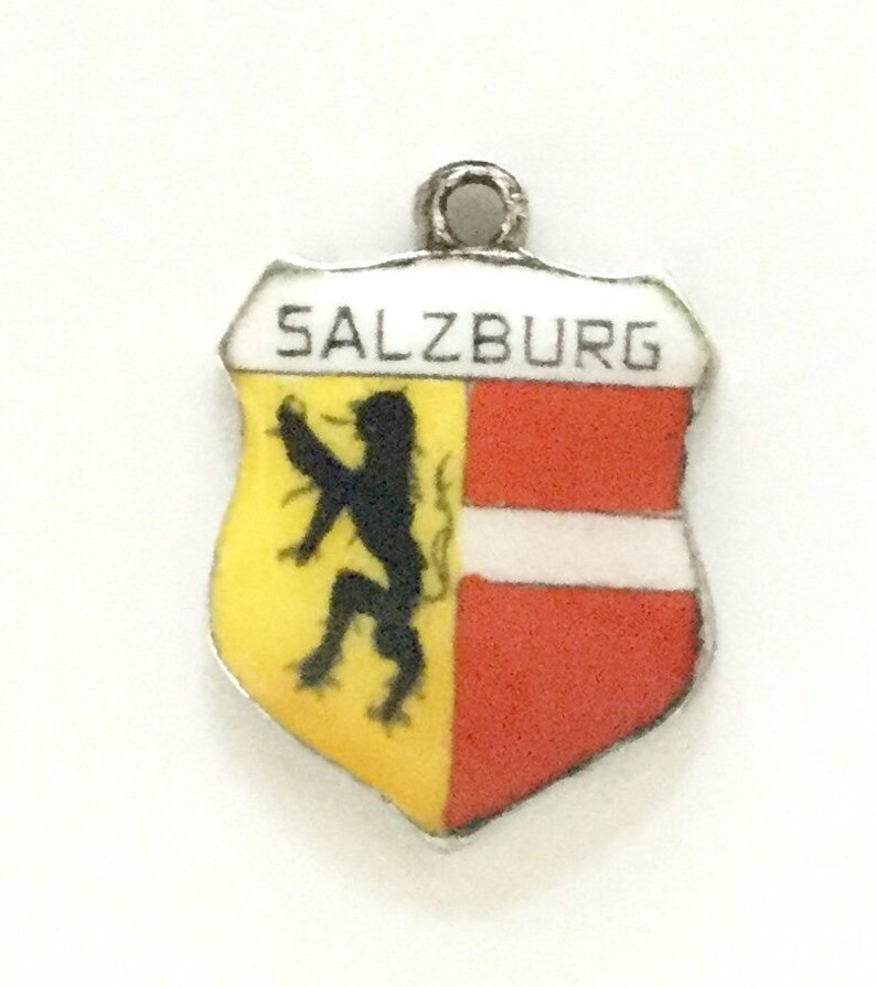 Bettelarmband Alt Emaille Silber 800 Travemunde Wappen Anhänger