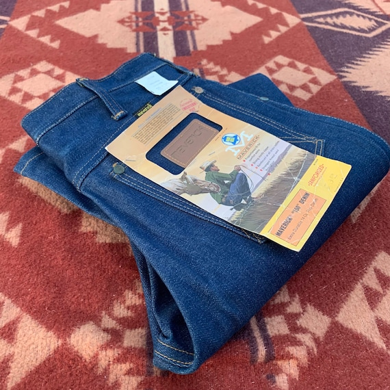 Vintage 1970's New Old Stock Maverick Jeans/ 70's