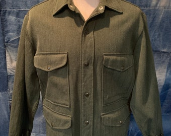 50s 60s Day's Ranger Wool Whipcord Mackinaw Cruiser Jacket XL Forestry
