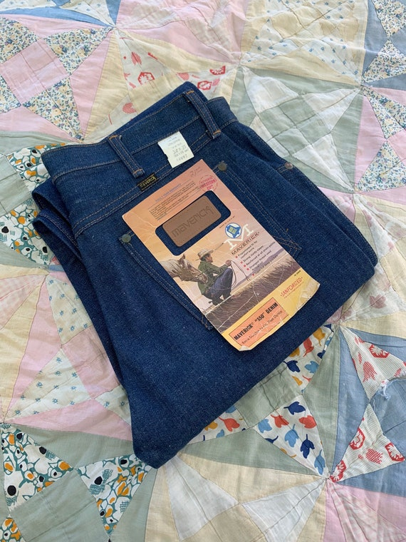 Vintage 1970s New Old Stock Maverick Jeans/ 70's B