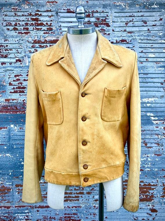 40s Scully Deerskin Leather Jacket Men's L