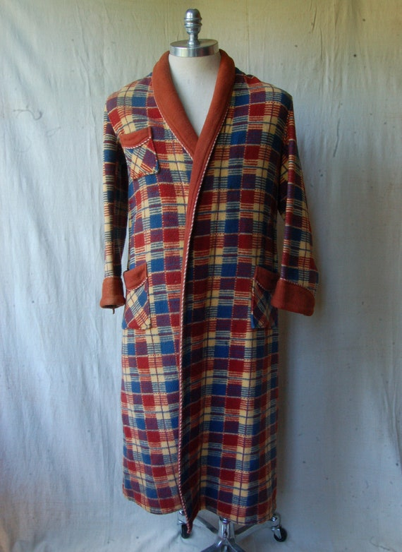 50's Beacon Type Cotton Blanket Robe