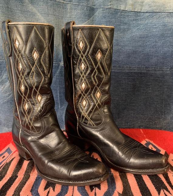 50s 60s Acme Cowboy Western Boots Comb Last Mens 6