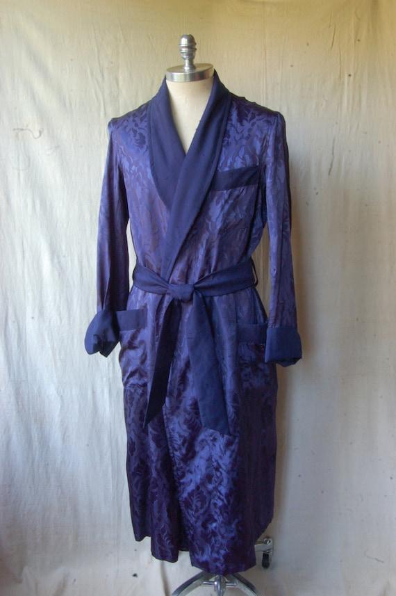 50's Satin Brocade Robe