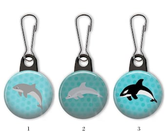 Dolphin Anchor Zipper Pull Dolphin Gift Dolphin Lobster Clasp Dolphins Anchor Zipper Pull Dolphin Animal Anchor Zipper Pull-HZ0012 Dolphins Dolphin Jewelery