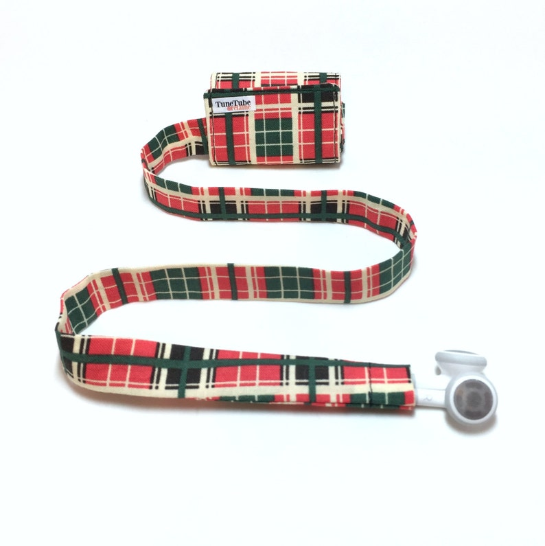 Plaid TuneTube.  Earbud cord organizer for iPhone or iPod. image 0
