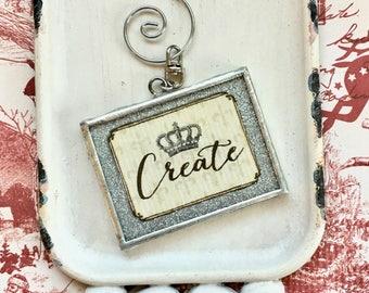 Create and Soar ornament - desk ornament - teacher's gift - inspirational - graduation gift