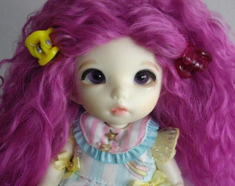 Light Purple color tibetan mohair wig for lati yellow/pukifee/tiny delf